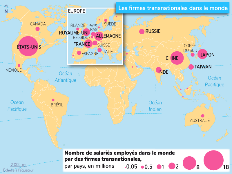 rôles firmes transnationales
