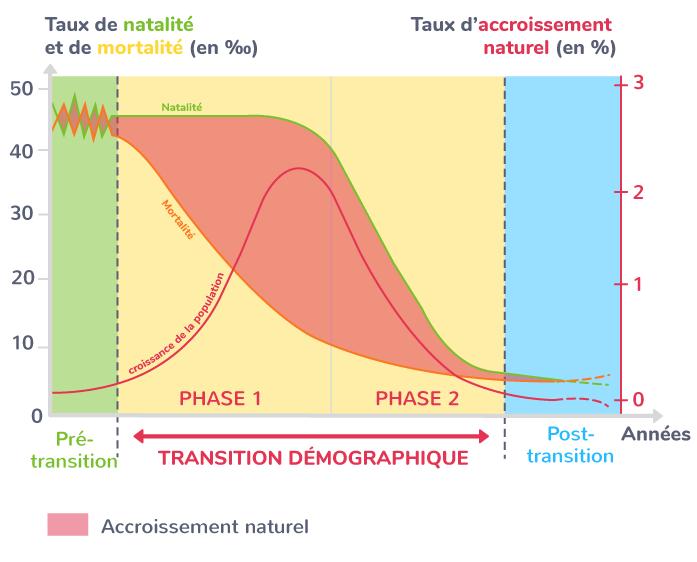 Courbe théorique de la transition démographique