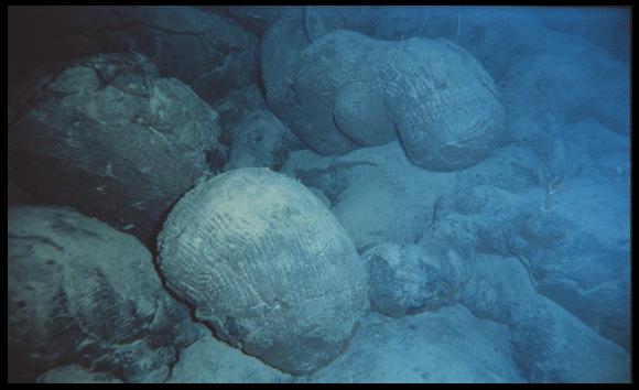 Basaltes en coussins du fond océanique