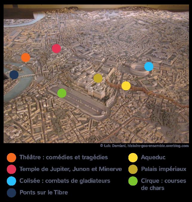 Rome, capitale politique, religieuse et culturelle de l'empire