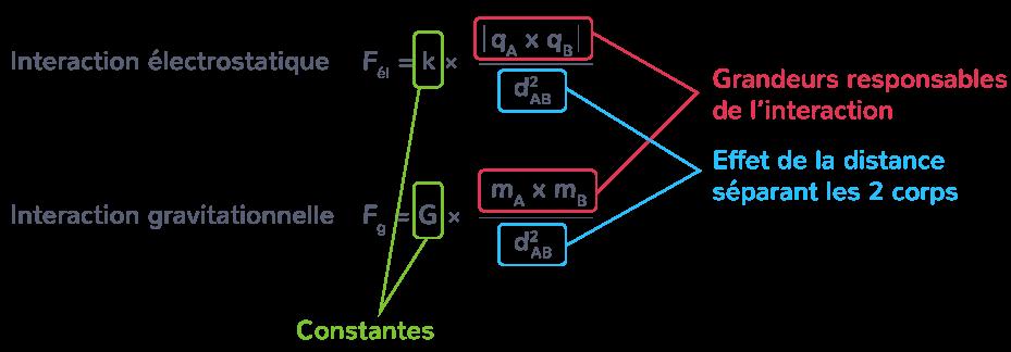 Analogies entre la loi de Coulomb et la loi d'interaction gravitationnelle