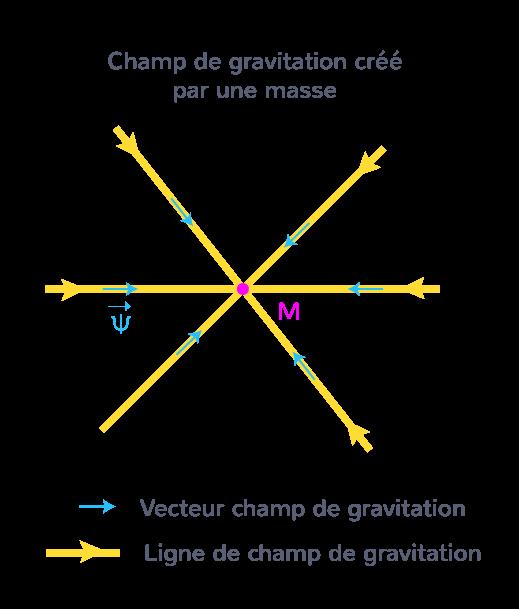 Champ de gravitation crée par une masse