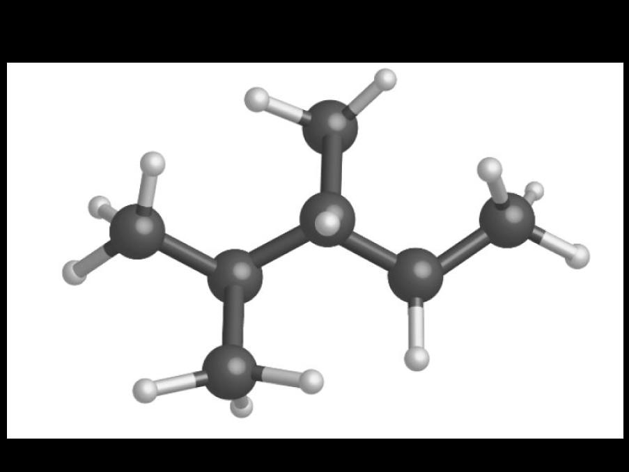 Modèle moléculaire présentant une chaîne ramifiée
