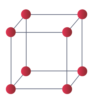 Exemple d'une maille de cristal