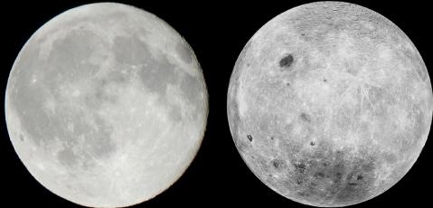 Face visible et face cachée de la Lune