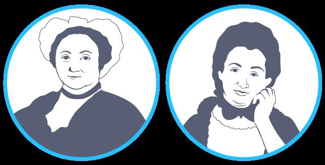 Émilie du Châtelet et Angélique du Coudray