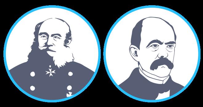 Guillaume Ier et Otto vonBismarck