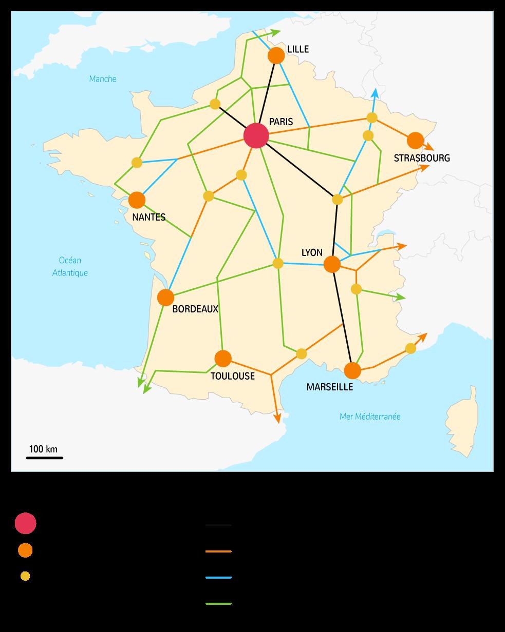 La construction du réseau autoroutier en France