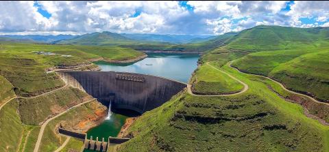 Le barrage de Katse au Lesotho