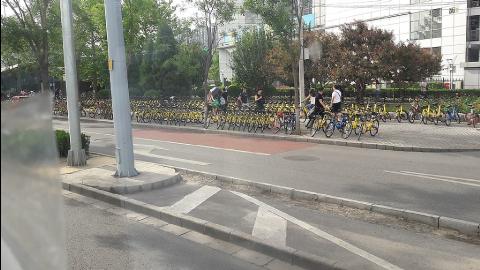 Parc de vélos publics à louer à Pékin