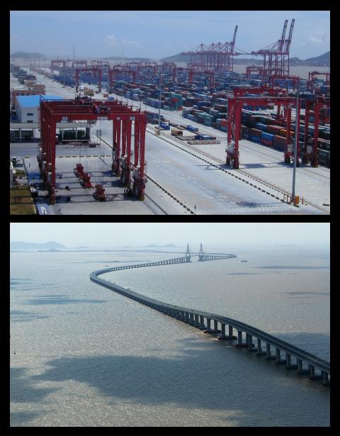 Le port de Yangshan et le pont de Donghai