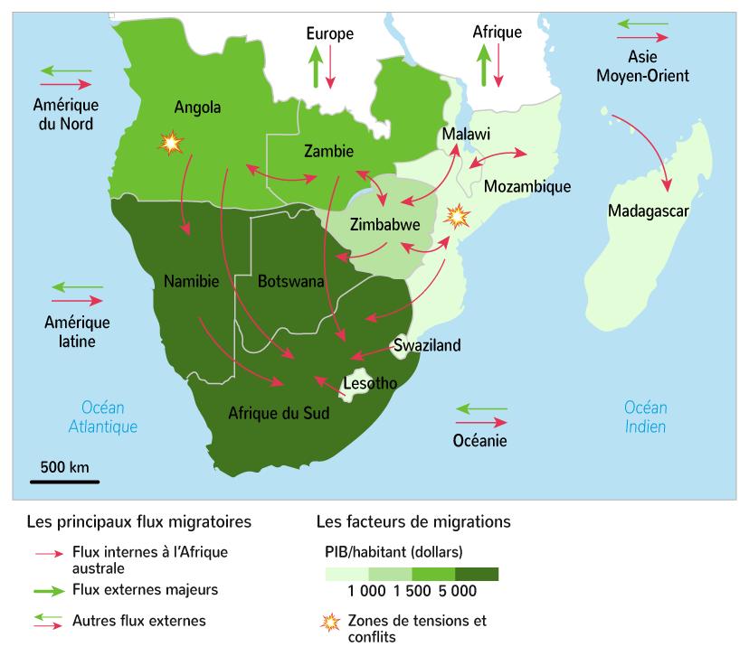 Les principaux flux migratoires