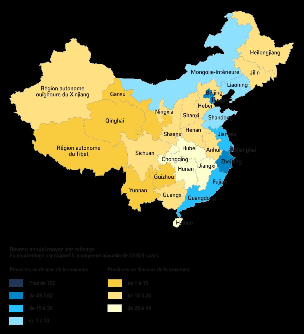 Les écarts de dynamisme entre les régions