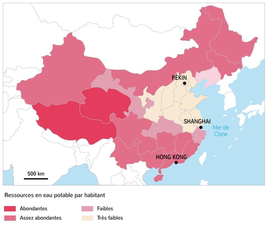 Les ressources en eau potable par habitant selon les provinces