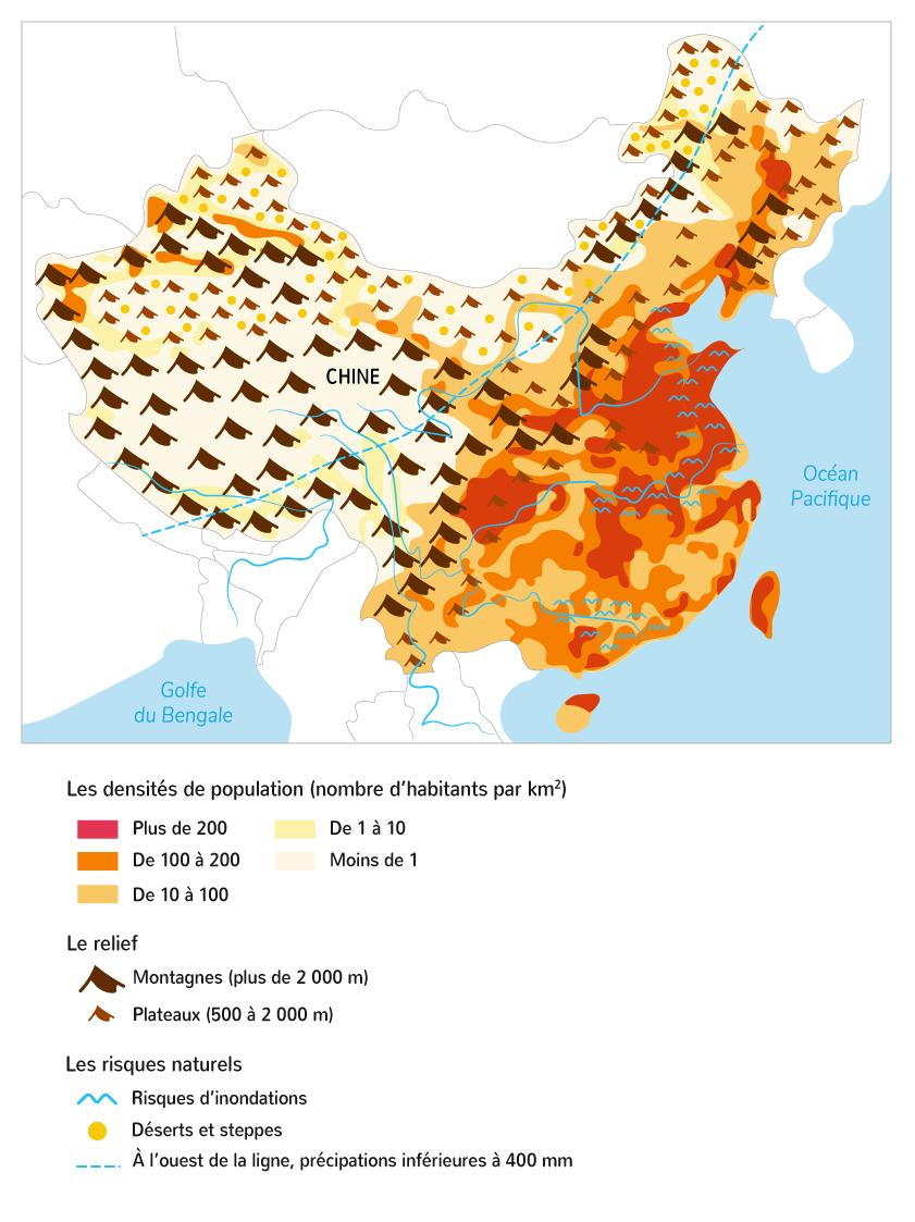Les densités de peuplement concentrées sur le littoral