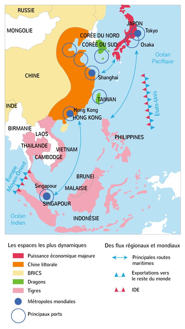 Aires de puissances et flux de marchandises en Asie orientale
