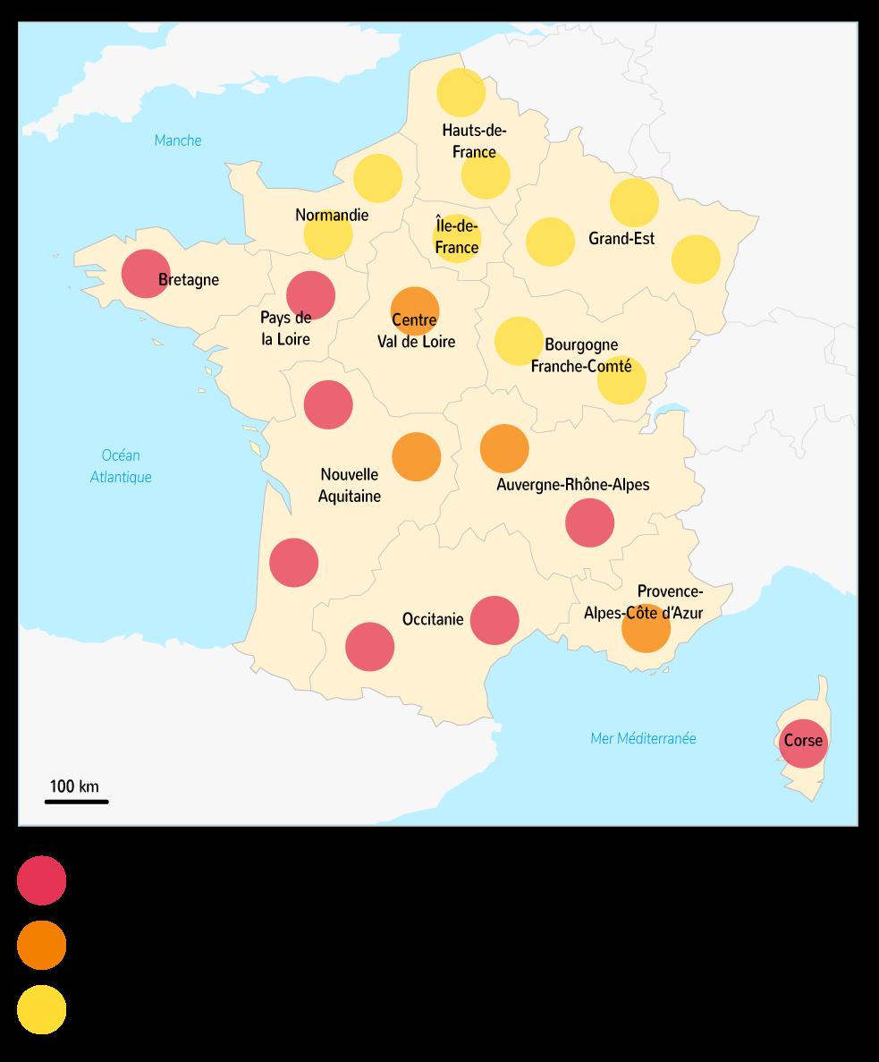 Le solde migratoire des régions françaises