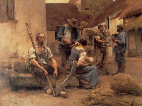 La Paye des moissonneurs, tableau de Léon Lhermitte réalisé en 1882 et conservé au musée d'Orsay