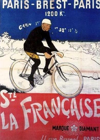 Affiche de 1901 pour la course Paris – Brest – Paris