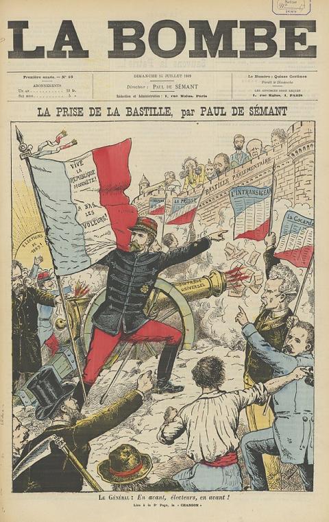 Une du journal La Bombe, n° 18, 14 juillet 1889