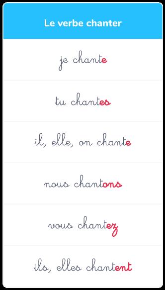Le Present Des Verbes Du 1er Groupe Ce2 Cours Francais Kartable
