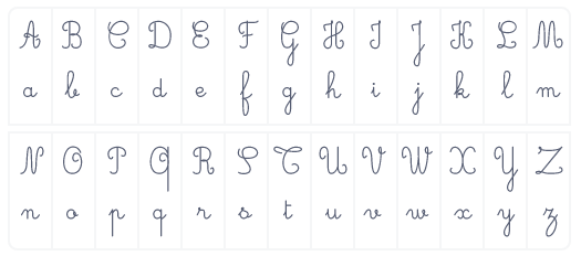 alphabet composé 26 vingt-six lettres
