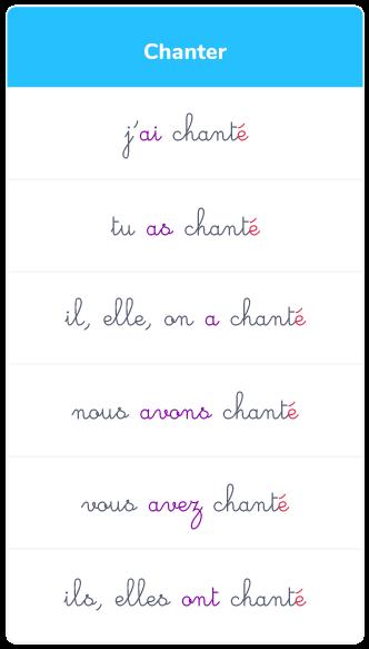 Le Passe Compose Des Verbes Du 1er Groupe Ce2 Cours Francais Kartable