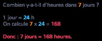 conversions durées calcul