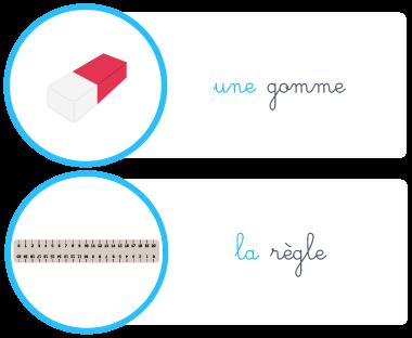 grammaire nom féminin une la