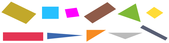 polygone figure plusieurs côtés droits