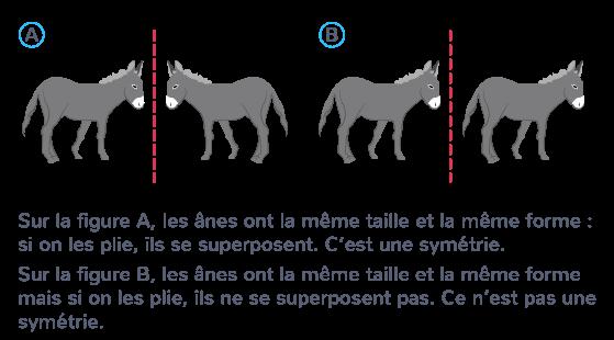 deux figures symétriques superposer pliage axe symétrie