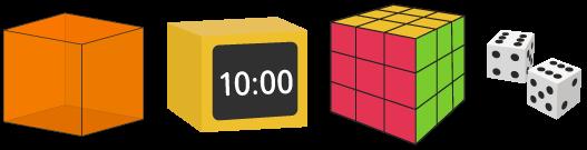 cube solide faces carrés
