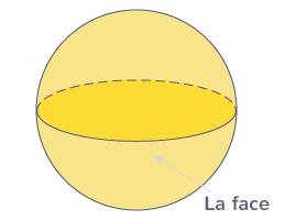 boule une face courbe