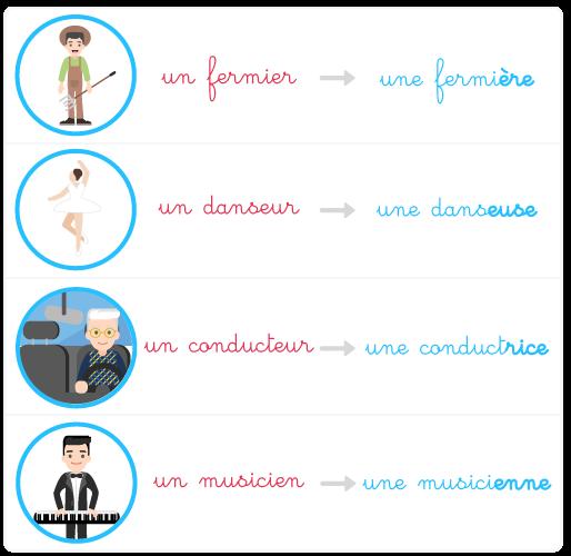 masculin féminin noms