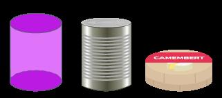 cylindre solide forme rouleaux extrémités cercles