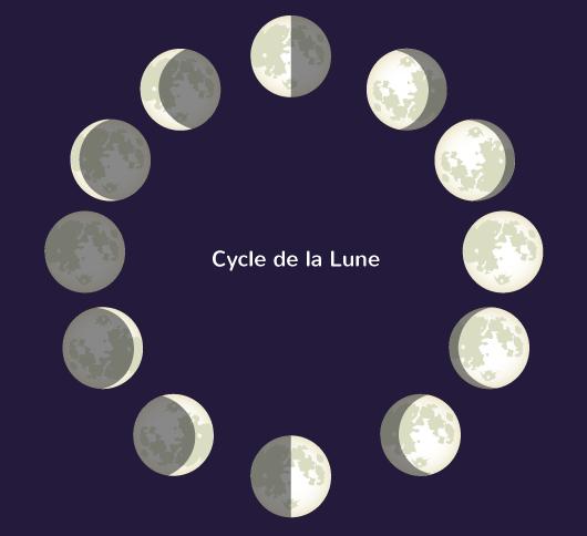Lune satellite naturel Terre