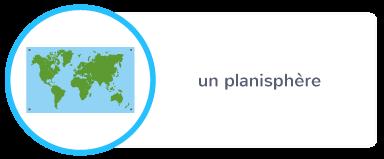 planisphère représentation plate planète Terre