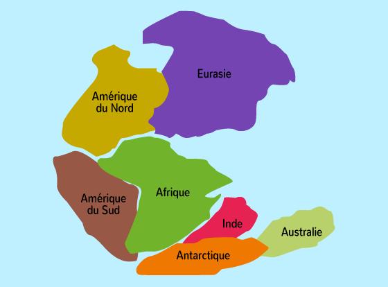 origine Terre un seul continent Pangée
