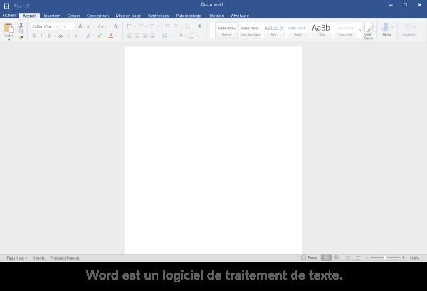 traitement de texte logiciel ordinateur taper texte