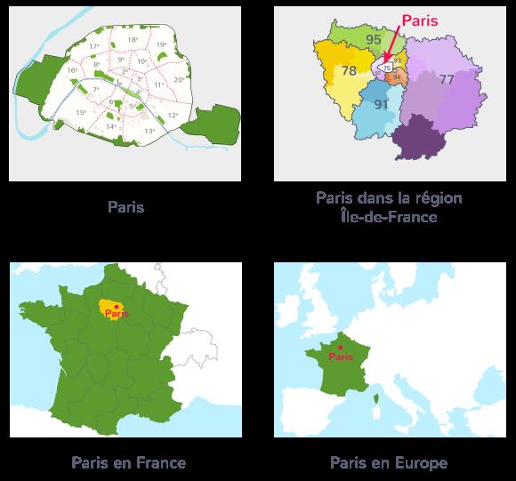 carte géographique repérage espace