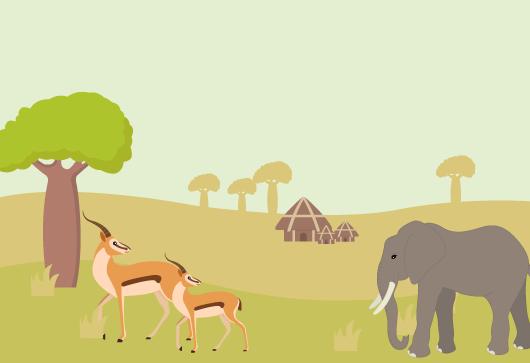 différents paysages monde savane africaine