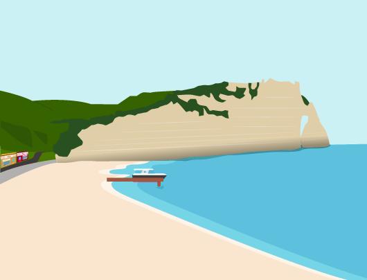paysage littoral limite continent océan plages ports