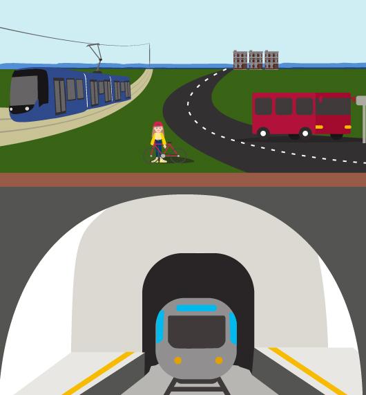 transports villes métro bus tramway vélos