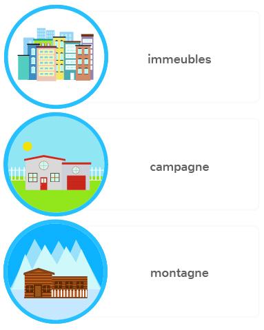 habitations France différentes ville campagne montagne mer