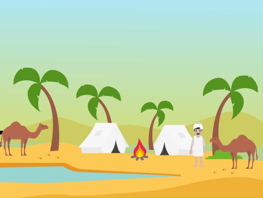 vivre désert chaud nomades sédentaires oasis