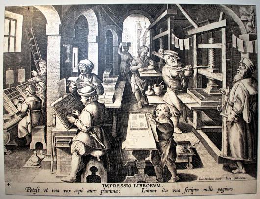 Un atelier d'imprimerie au XVIe siècle