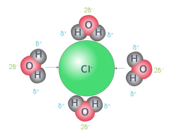 dissolution solide ionique étape 2 hydratation ions