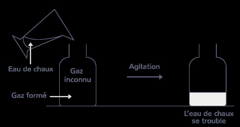 dioxyde carbone test eau de chaux