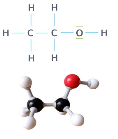 formule développée molécule éthanol