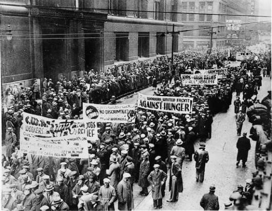 conséquences crise manifestations 1929 États-Unis